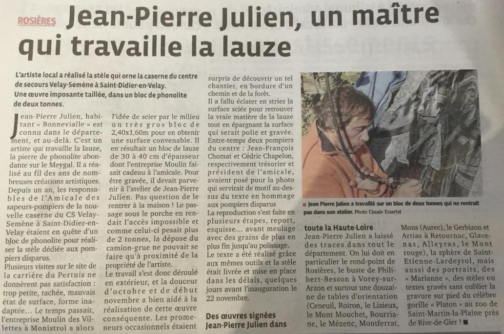 Article Progès Stèle